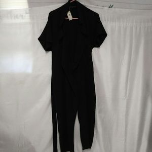 English Factory Black Straight Leg Jumpsuit NWT
